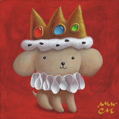 Wall Art - Painting - Royal Pup by Chris Miles