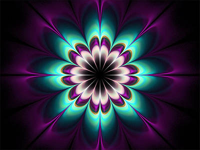 Digital Art - Royal Purple by Barbara A Lane