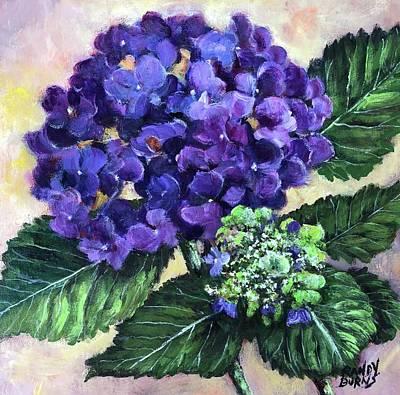 Painting - Royal Purple Hydrangea by Randy Burns