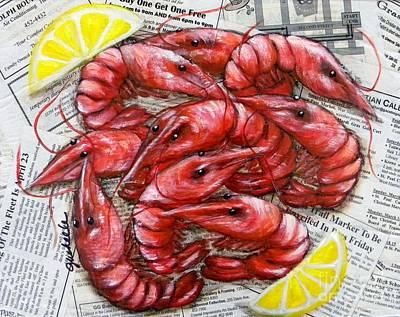 Royal Reds Art Print by JoAnn Wheeler