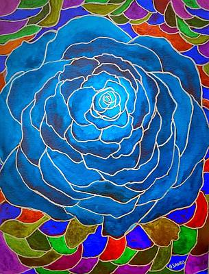 Painting - Royal Rose by Anne Sands