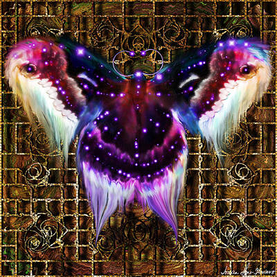 Digital Art - Royal Saturniidae  by Iowan Stone-Flowers