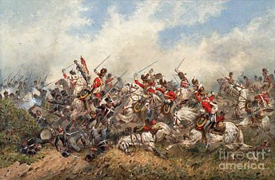 Scot Painting - Royal Scots Greys At Waterloo by MotionAge Designs