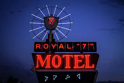 Photograph - Royal Seven Motel Sign by Steven Bateson