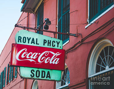 Coca-cola Sign Photograph - Royal Soda Nola by Sonja Quintero