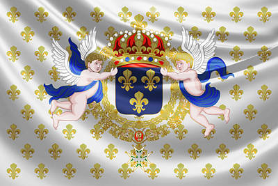 Digital Art - Royal Standard Of France  by Serge Averbukh