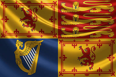 Digital Art - Royal Standard Of The United Kingdom In Scotland by Serge Averbukh
