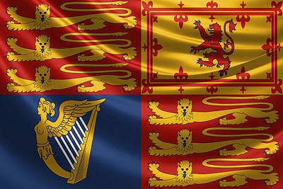 Digital Art - Royal Standard Of The United Kingdom  by Serge Averbukh