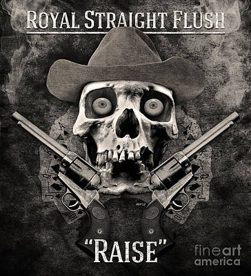 Print featuring the digital art Royal Straight Flush by Phil Perkins