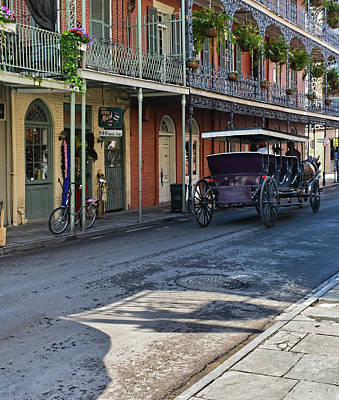 Photograph - Royal Street Carriage Ride - French Quarter - New Orleans by Greg Jackson