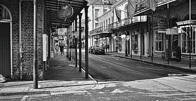 Photograph - Royal Street - French Quarter - New Orleans - B/w by Greg Jackson