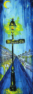 Painting - Royal Street Lamp Post by Catherine Wilson