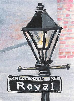 Royal Street Lampost Art Print by Elaine Hodges