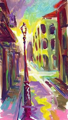 Royal Street New Orleans Art Print by Saundra Bolen Samuel