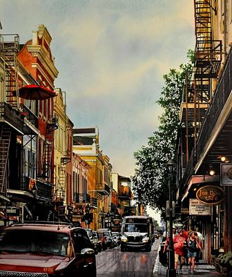 Painting - Royal Street Strole by Robert W Cook
