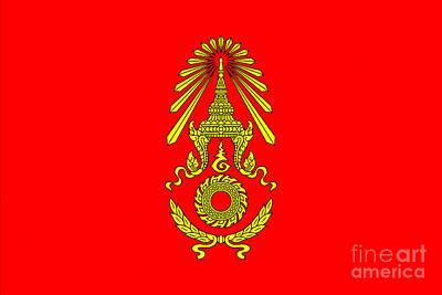 Digital Art - Royal Thai Amy Flag by Ian Gledhill