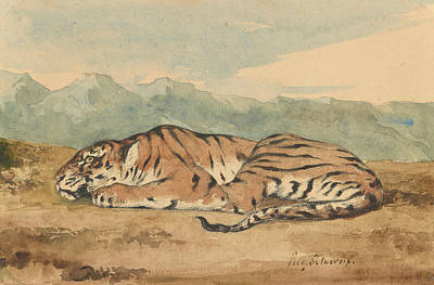 Delacroix Painting - Royal Tiger by Eugene Delacroix
