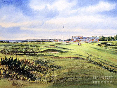 Sports Paintings - Royal Troon Golf Course by Bill Holkham