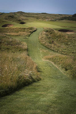 Photograph - Royal Troon Golf Course The Postage Stamp  by Alex Saunders