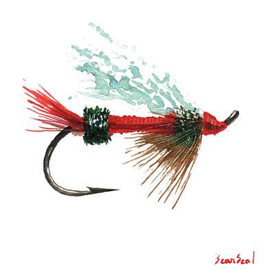 Royal Trude Salmon Fly Art Print by Sean Seal