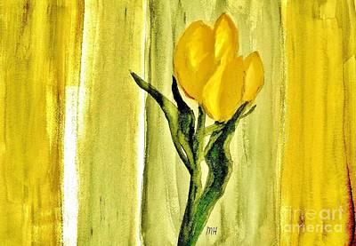 Shower Digital Art - Royal Tulips In Yellow by Marsha Heiken