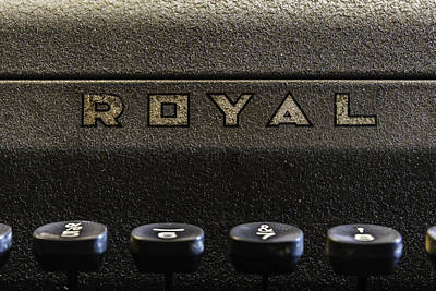 Photograph - Royal Typewriter #3 by Printed Pixels
