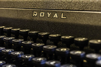 Photograph - Royal Typewriter #4 by Printed Pixels