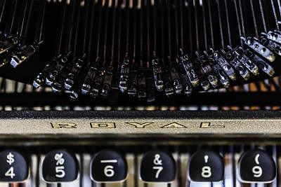Photograph - Royal Typewriter #6 by Chris Coffee