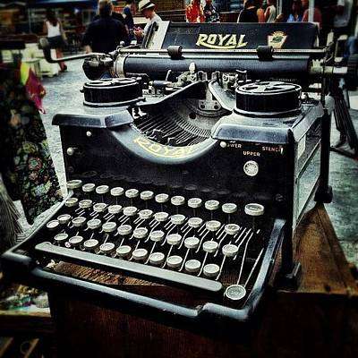 Igaddict Photograph - Royal Typewriter by Natasha Marco