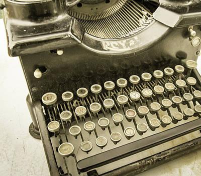 Photograph - Royal Typewriter by Nick Mares