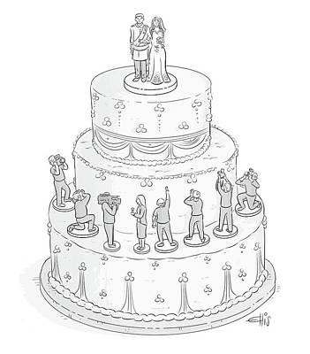 Drawing - Royal Wedding Cake by Ellis Rosen