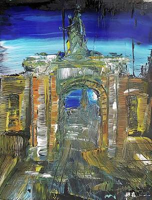 Painting - Royal William Yard Gateway by Martin Bush