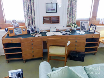 Photograph - Royal Yacht Britannia - The Queen's Office by Rod Jones