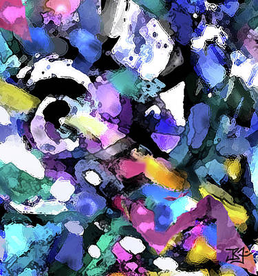 Digital Art - Royale - Detail by Jean Batzell Fitzgerald