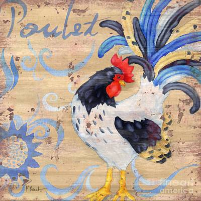 Rooster Painting - Royale Rooster Iv by Paul Brent