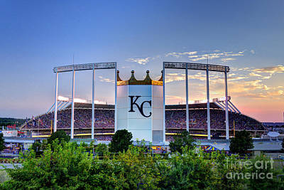 Royals Kauffman Stadium  Art Print