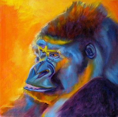Gorillas Painting - Royalty by Kaytee Esser