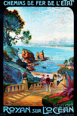 Royan Painting - Royan Sur L'ocean, French Travel Poster by Pablo Romero