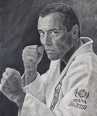 Royce Gracie Art Print by Adrienne Martino