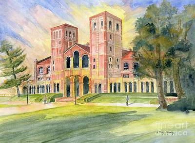 Painting - Royce Hall Ucla by Melly Terpening