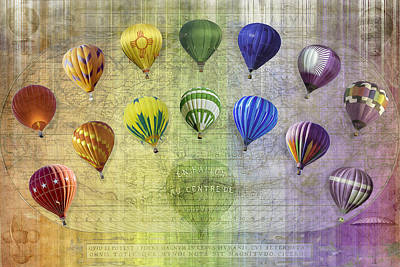 Digital Art - Roygbiv Balloons by Melinda Ledsome