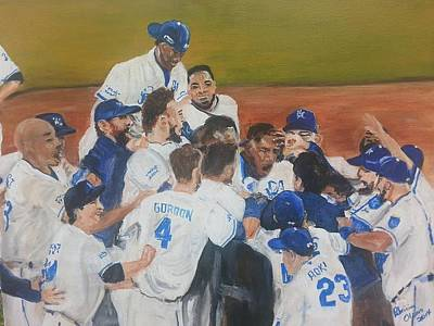 Painting - Royals Win by Patricia Olson