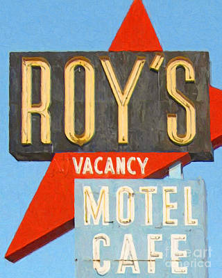 Photograph - Roys Motel And Cafe . Vacancy by Wingsdomain Art and Photography