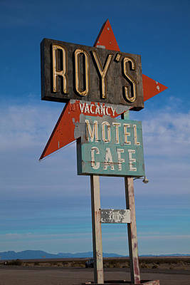 Print featuring the photograph Roy's Motel Cafe by Matthew Bamberg