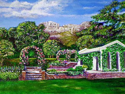 Impressionistic Vineyard Painting - Rozannes Garden by Michael Durst