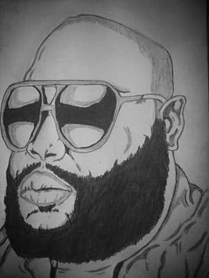 Hip Drawing - Rozay by Ryan Williams