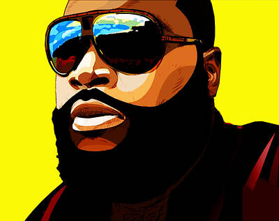 Rapper Digital Art - Rozay by The DigArtisT
