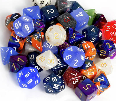 Photograph - Rpg Dice by Liz Masoner
