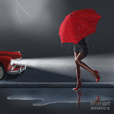 Rainy Day Art Print by Monika Juengling