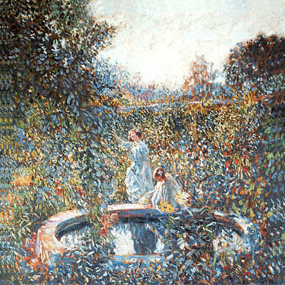 Photograph - The Blue Garden by Frederick Frieseke